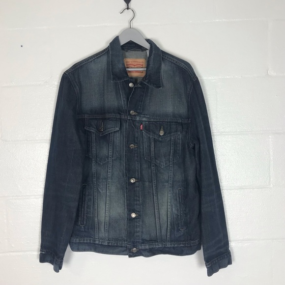Levi's jean jacket Mens XL denim trucker coat